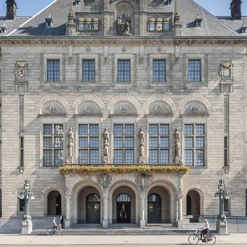 City Hall Rotterdam close up