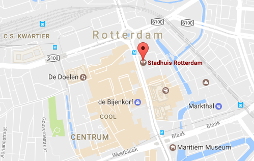 How to get to the Rotterdam City Hall