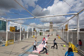Children playing at play ground Rotterdam