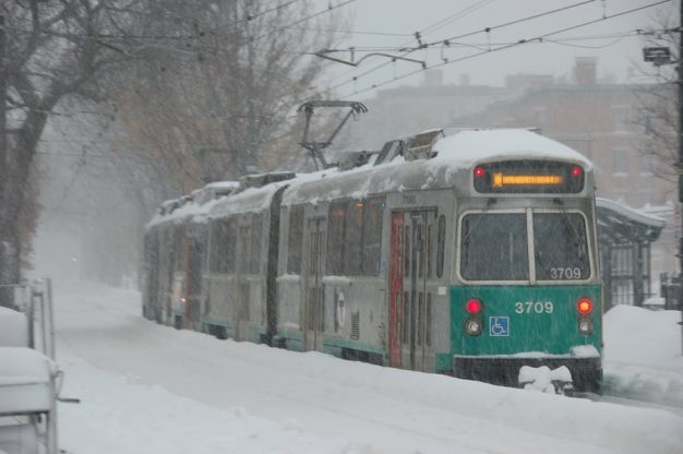 The Boston-area transit authority has had major disruptions and shut-downs this winter. MaxVT/Flickr, CC BY-SA