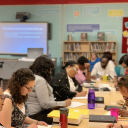 Teachers in the Detroit school district recently participated in a training session on gifted education. Photo by Kyla Heat/Chalkbeat