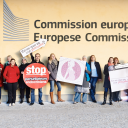 EDC-Free Europe campaigners at the European Commission. Photo: EDC-Free Europe